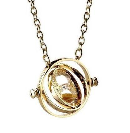 HARRY POTTER - Pendentif et Collier Plaqué Or - Time Turner_1