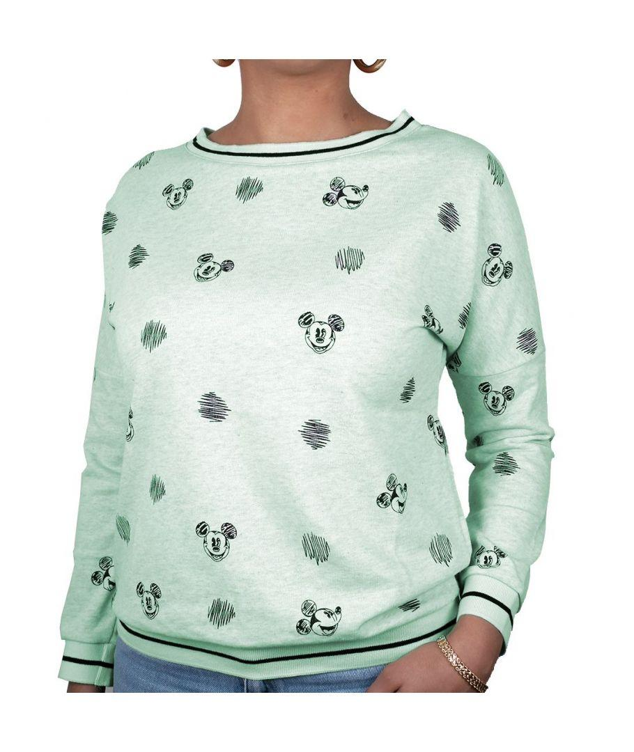DISNEY - Sweat Crayon Mickey GIRL - Green (S)