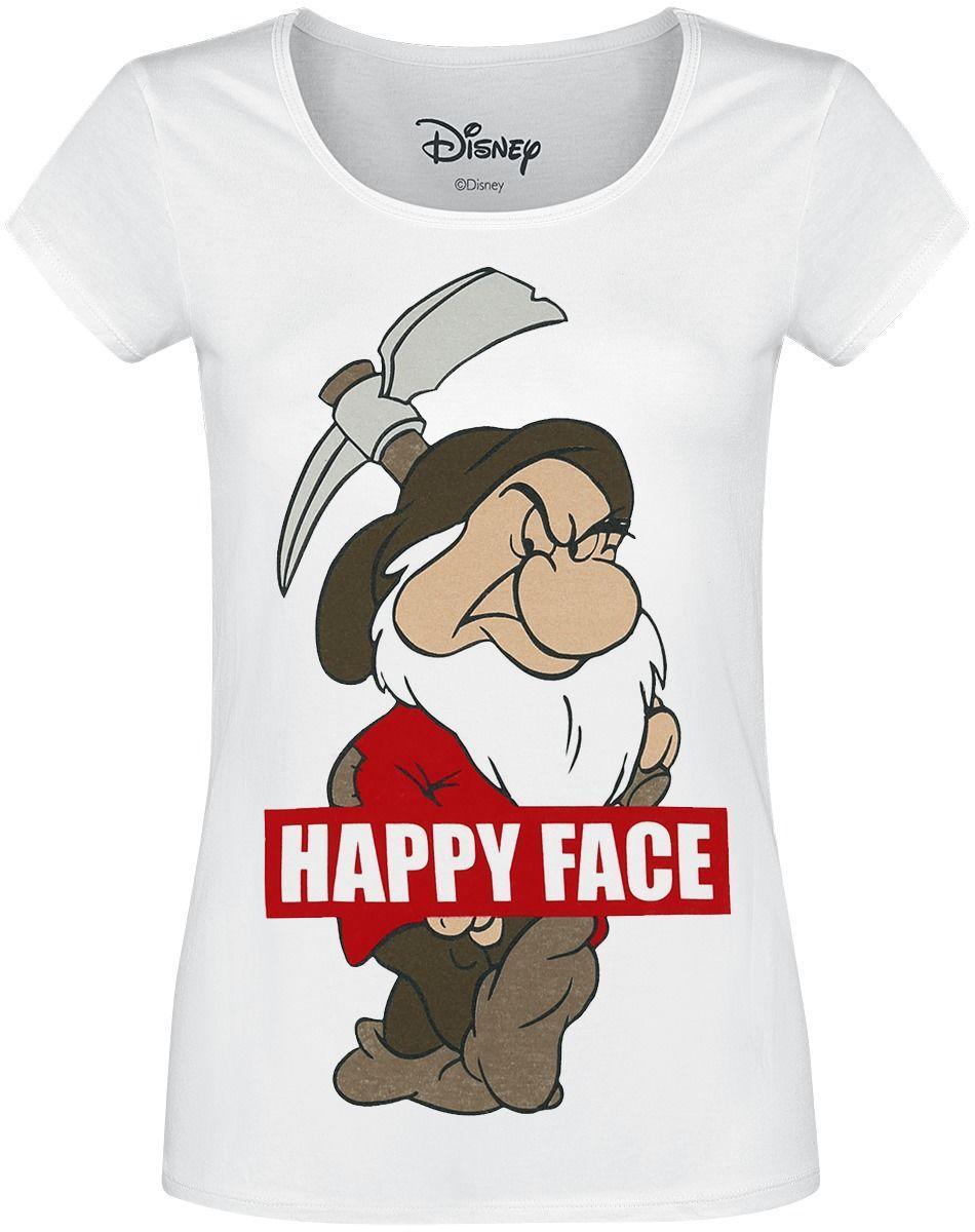 DISNEY - T-Shirt Snow White Happy Face (S)