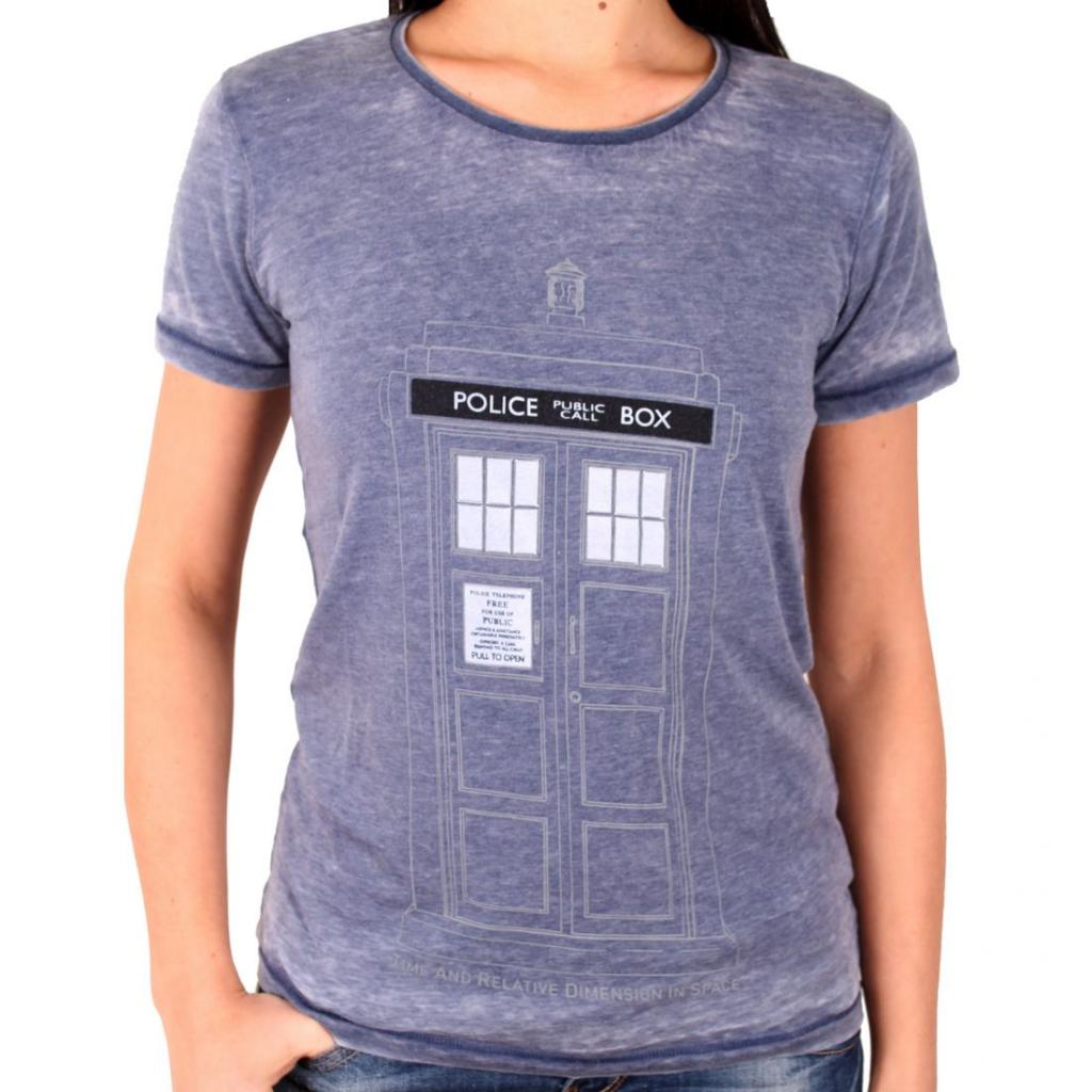 DOCTOR WHO - T-Shirt GIRL - Tardis Door (S)