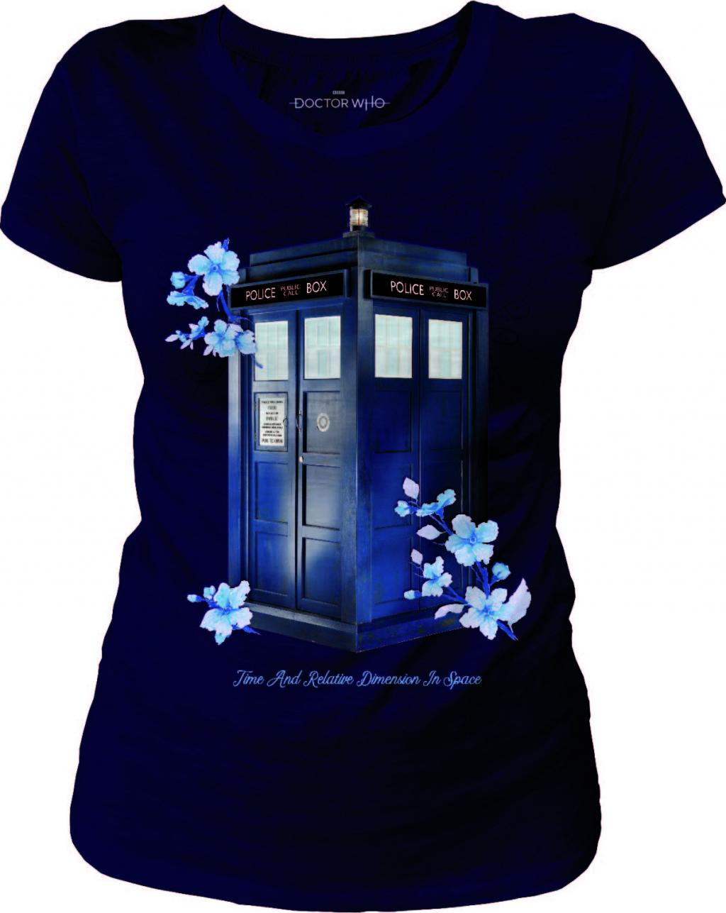 DOCTOR WHO - T-Shirt Flower Tardis - GIRL (S)