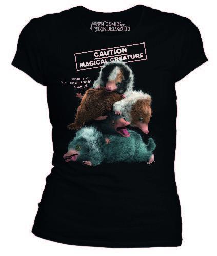 FANTASTIC BEASTS - T-Shirt Niffleur Caution Magical Creature (L)