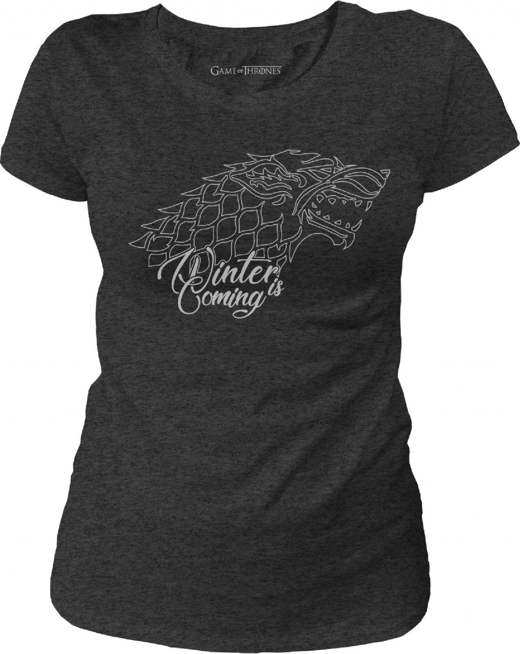 GAME OF THRONES - T-Shirt Stark Winter is Coming - GIRL (S)