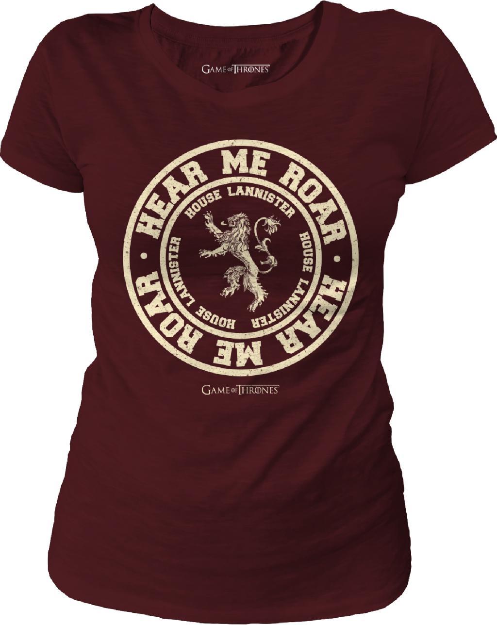 GAME OF THRONES - T-Shirt Hear me Roar - GIRL (M)