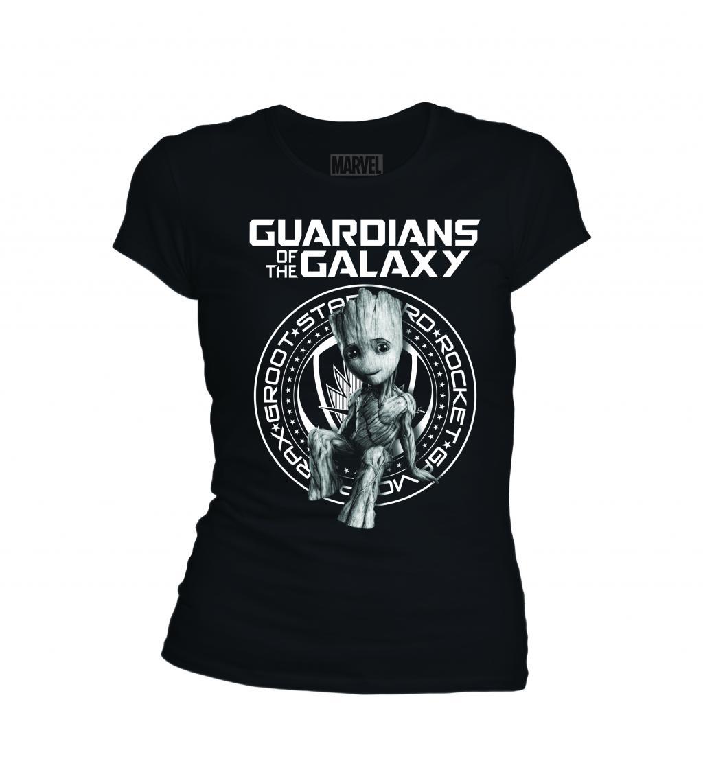 MARVEL - T-Shirt Sitting Groot Guardian Badge - GIRL (S)