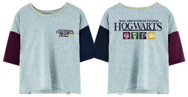 HARRY POTTER - T-Shirt Crop Top Hogwarts Square - GIRL (S)_1