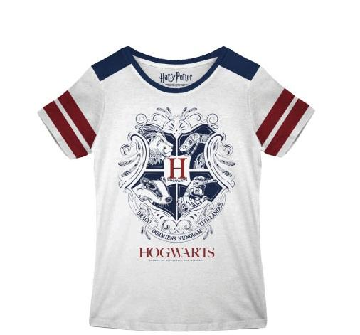 HARRY POTTER - T-Shirt Hogwarts Emblems - GIRL (M)