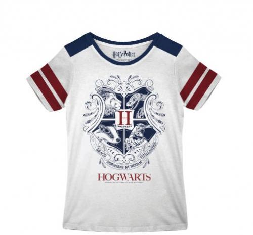 HARRY POTTER - T-Shirt Hogwarts Emblems - GIRL (M)