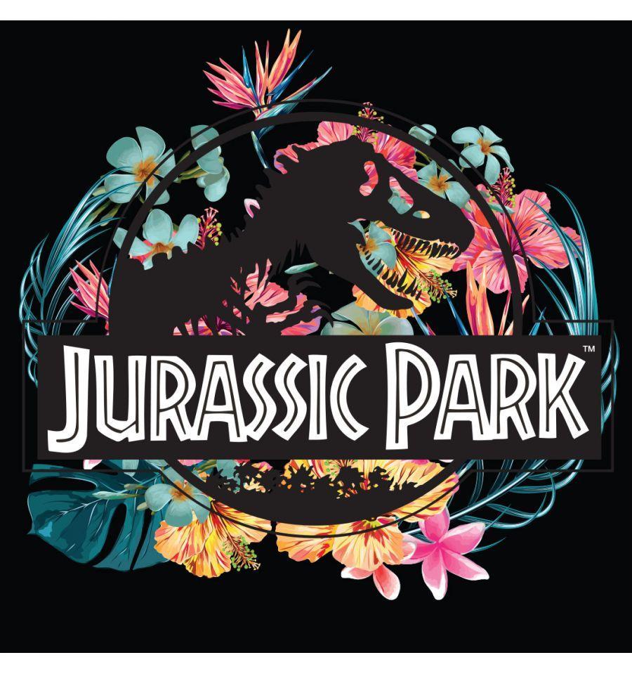 JURASSIC PARK - T-Shirt Jurassic Tropical Flower - GIRL (M)_2