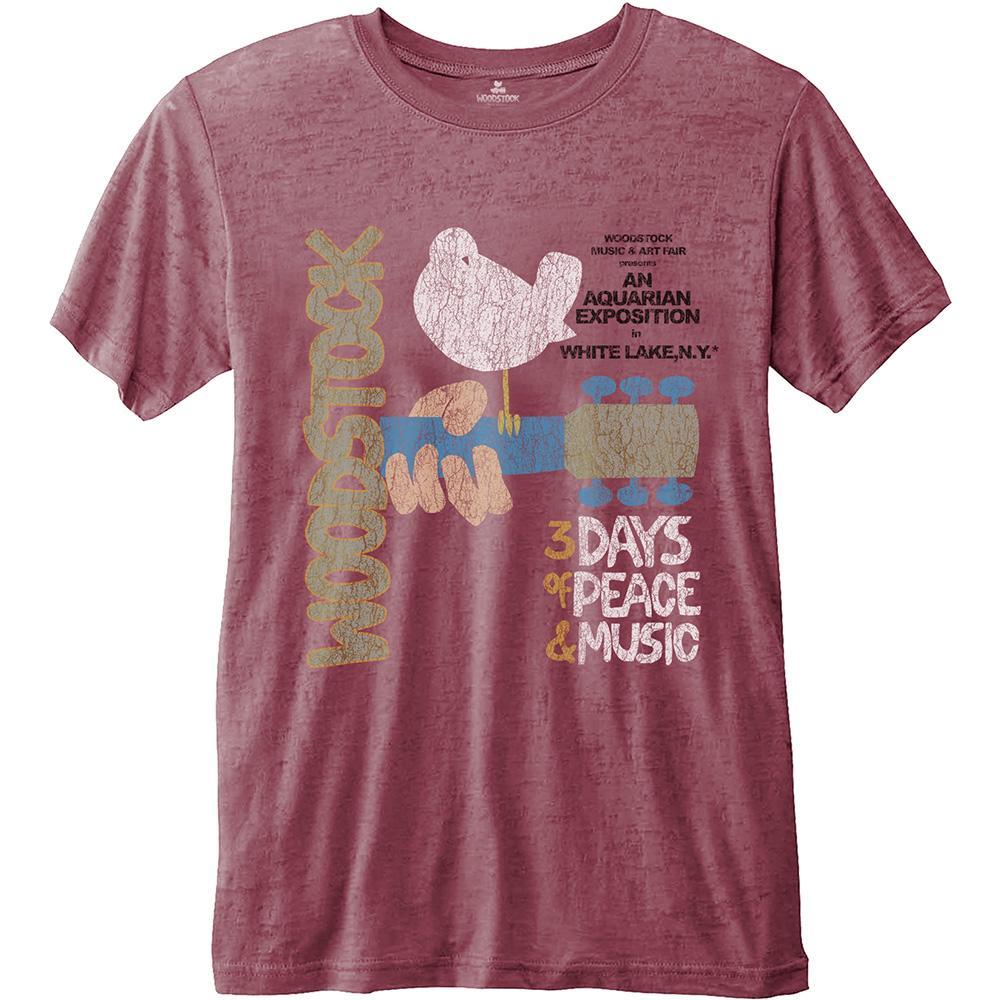 WOODSTOCK - T-Shirt BurnOut - Classic Vintage Poster (L)