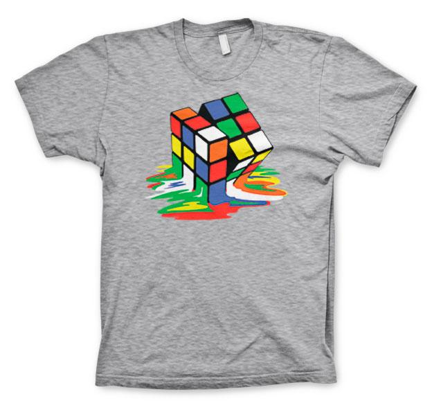 RUBIK'S - T-Shirt Melting Ribik's - CLEAR GREY (10A)