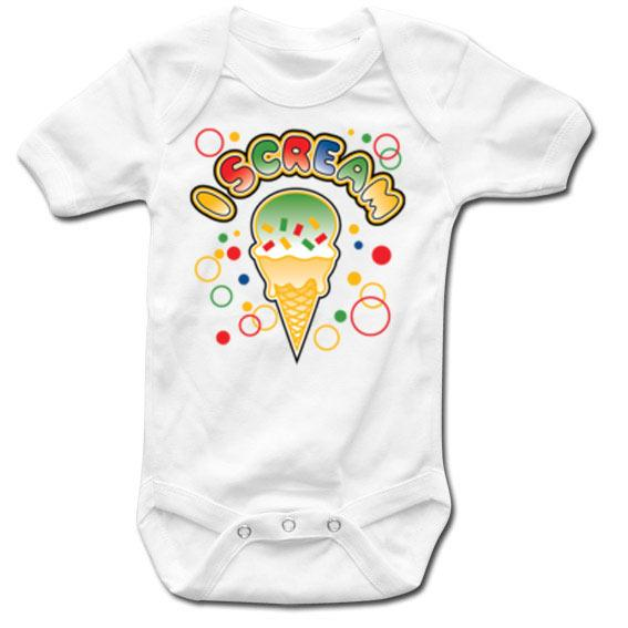 GEEK - Baby Body - I SCREAM - White (12 Month)
