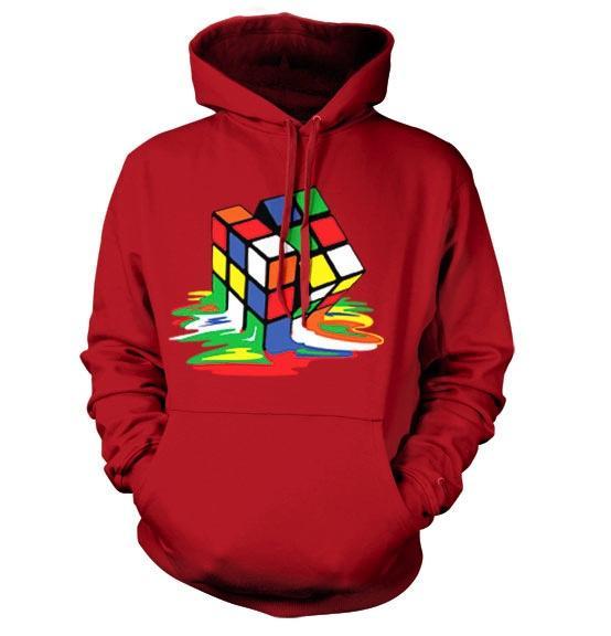 RUBIK'S - Sweatshirt Melting Rubik's - Cube - Red (S)_2