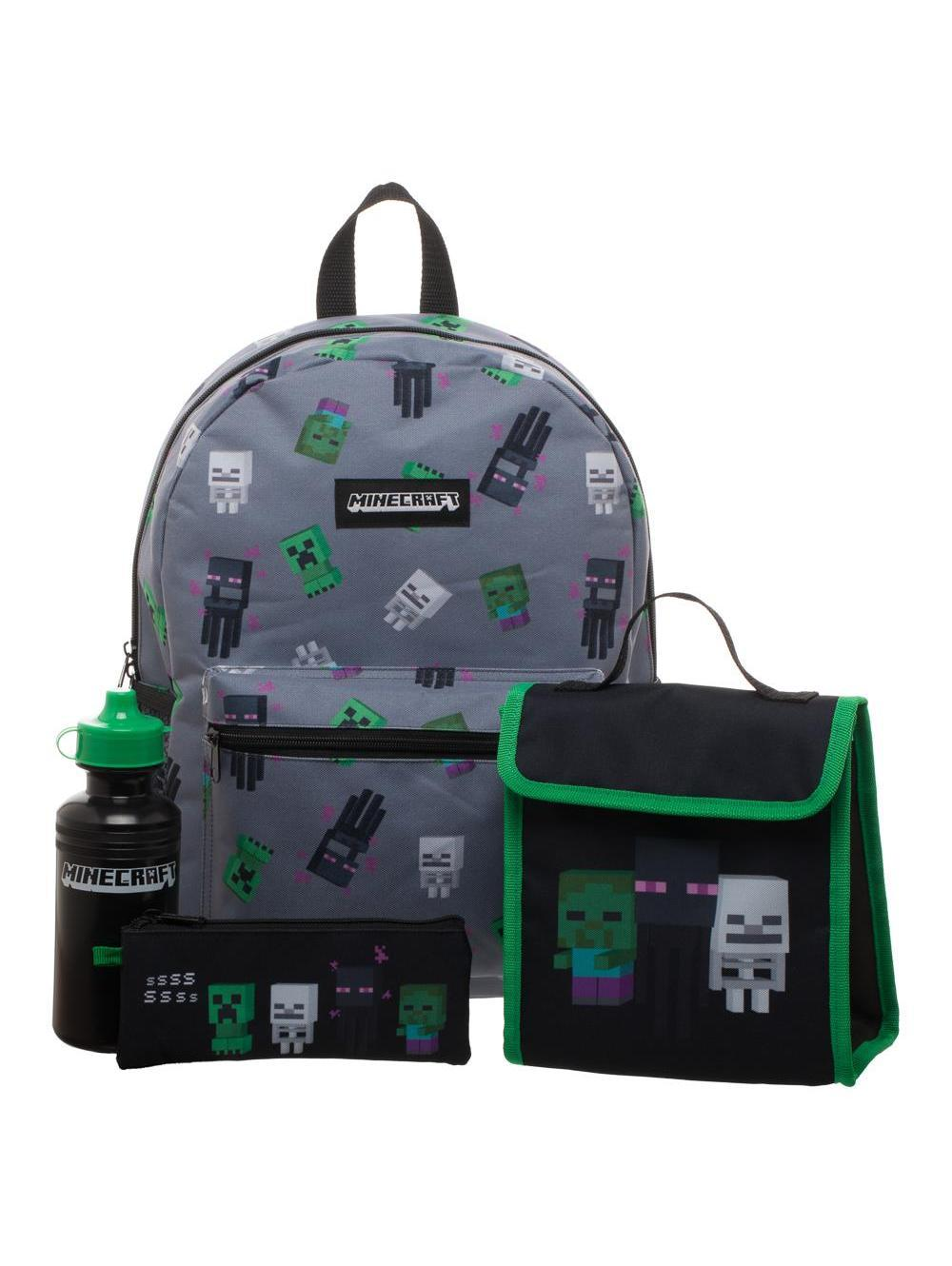 MINECRAFT - Back To School 4 Pcs Backpack Set
