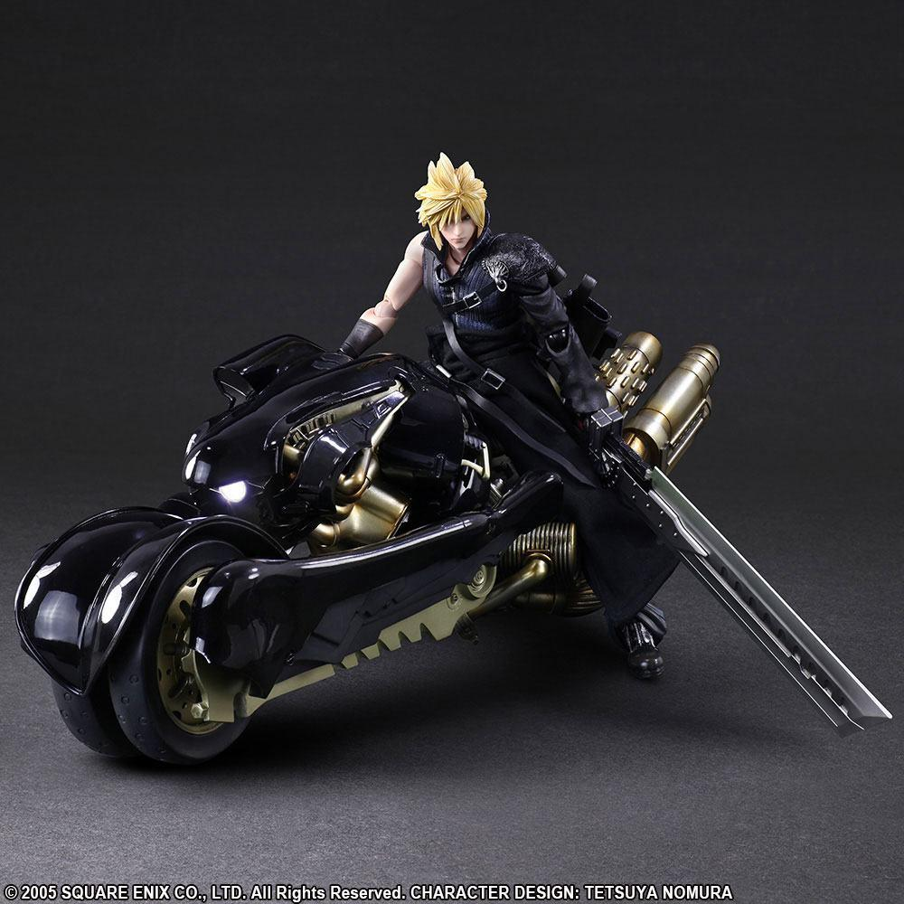 FINAL FANTASY VII Play Arts Kai - Adv Children - Cloud & Fenrir - 28cm