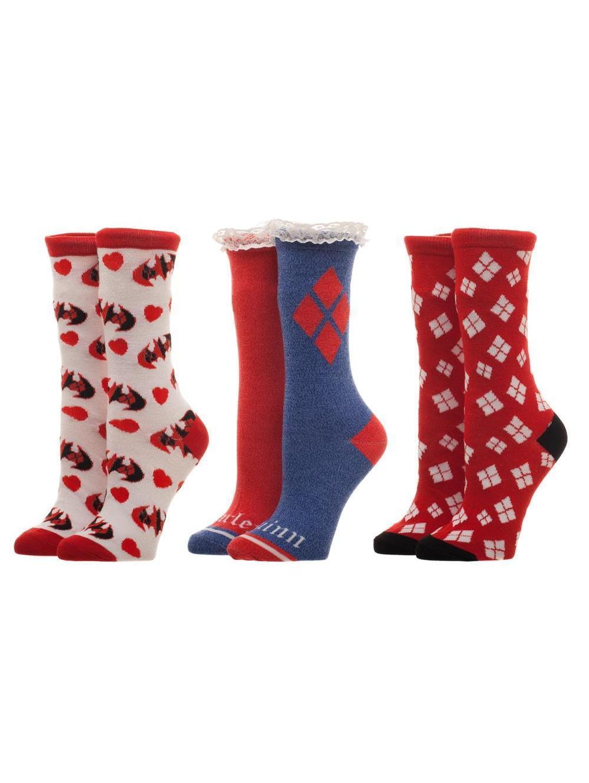 HARLEY QUINN - Ladies Crew Socks 3 Pack