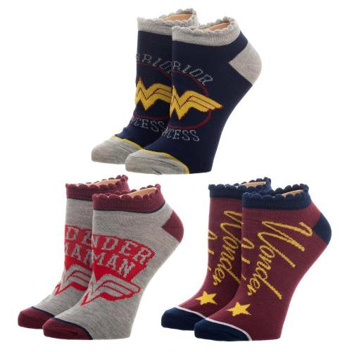 WONDER WOMAN - Women's Adult Ankle Socks Set