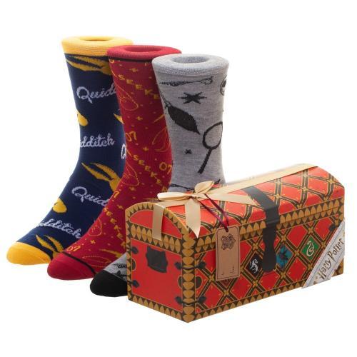 HARRY POTTER - Malle Quidditch - Pack de 3 paires de chaussettes