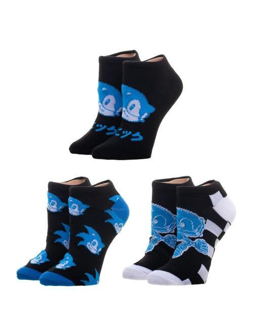 SONIC - Pack 3 paires de chaussettes - Taille unique adulte