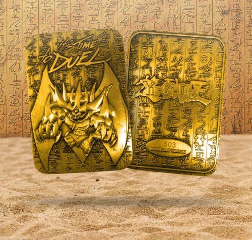 YU-GI-OH! - Obelisk le Tourmenteur - Carte métal plaquée or 24K LTD