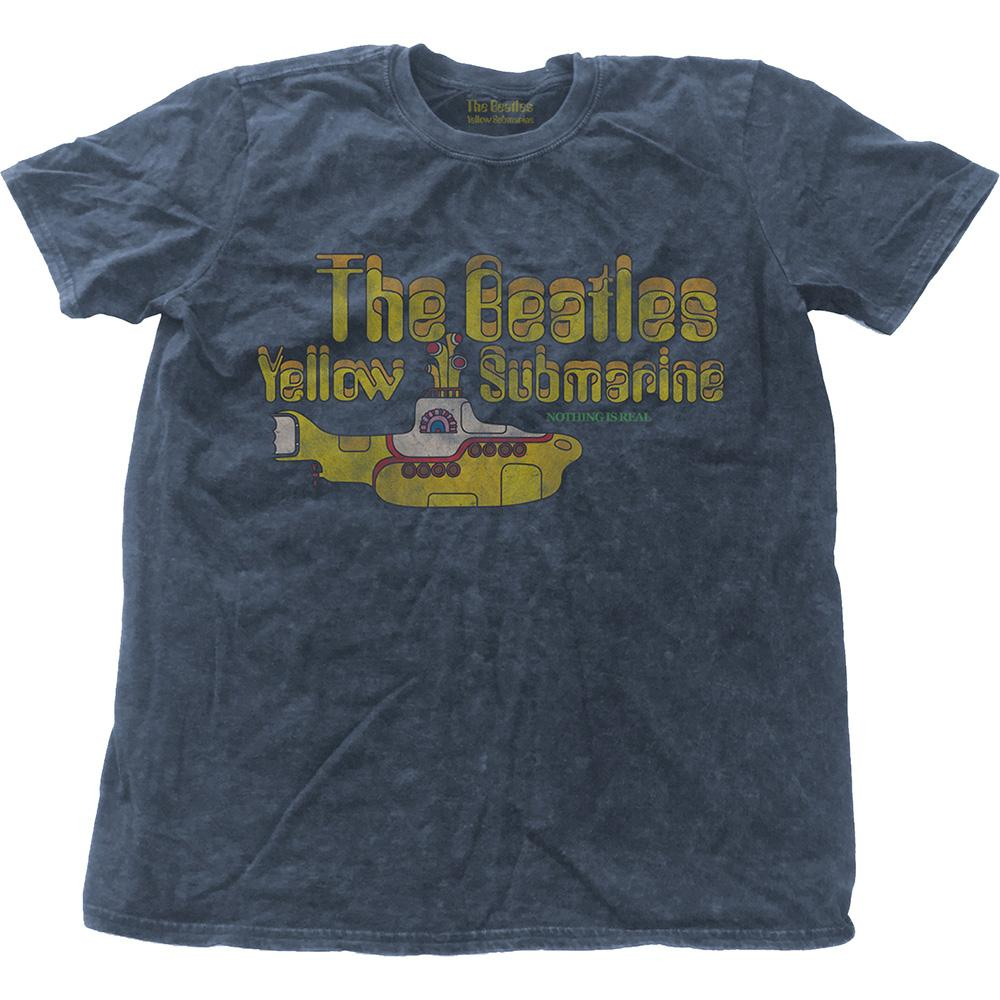 THE BEATLES - T-Shirt - Yellow Submarine Nothing is Real (L)