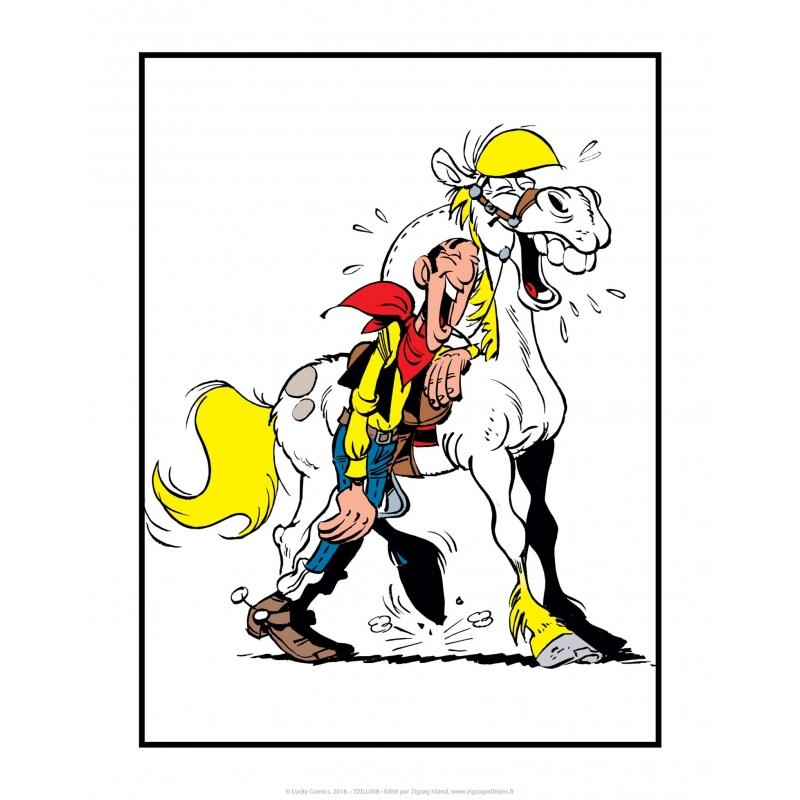 LUCKY LUKE - Affiche 35.5X28 - Jolly Jumper