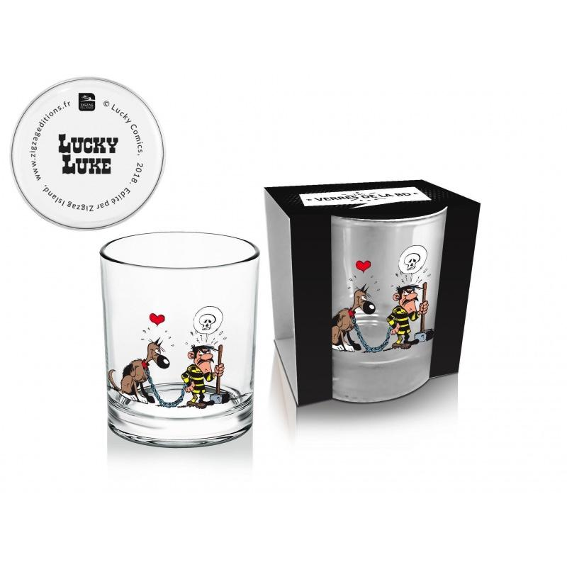 LUCKY LUKE - Whisky Glass 270 ml - Dalton + Rantanplan