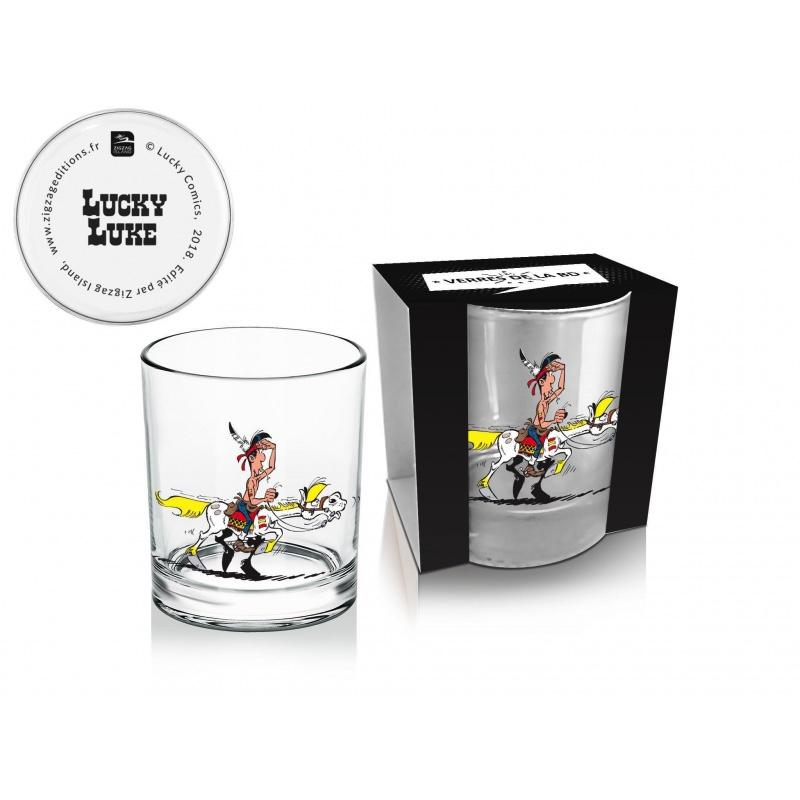 LUCKY LUKE - Whisky Glass 270 ml - Luke + Jolly Jumper 01