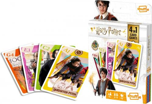 HARRY POTTER - 4 in 1 Card Games