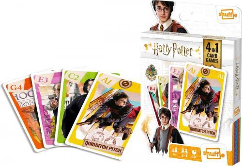 HARRY POTTER - Jeu de cartes 4 en 1