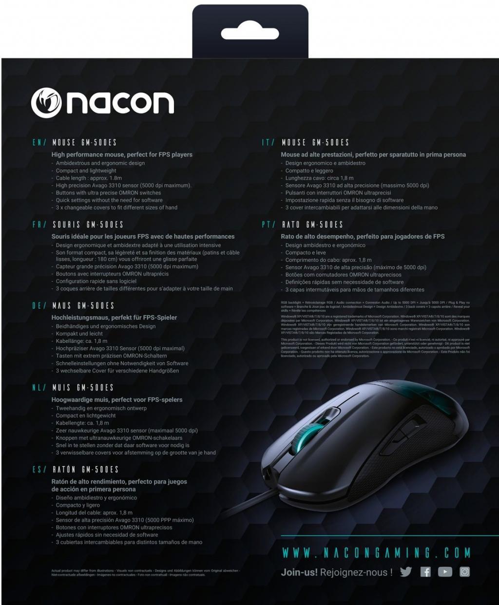 NACON E-SPORTS GAMING MOUSE GM-500ES - PROMO_3