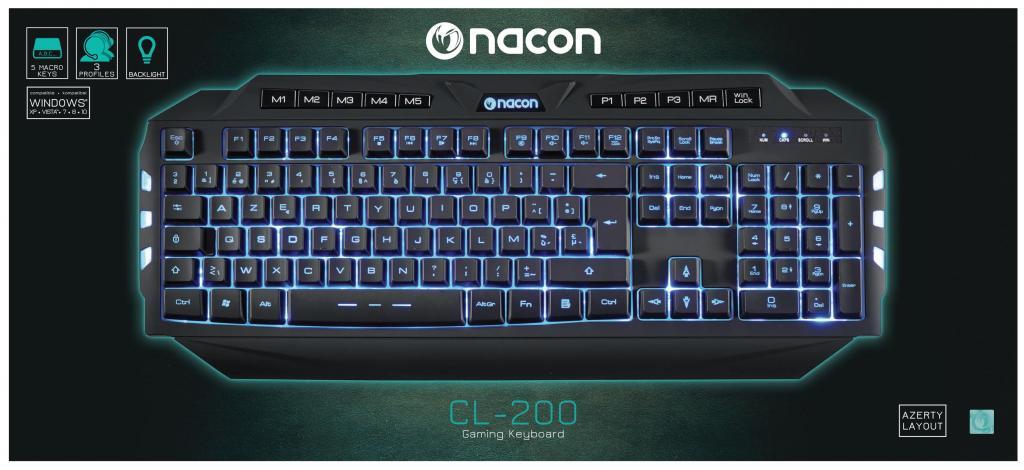 NACON GAMING KEYBOARD CL-200 BE AZERTY PC_1