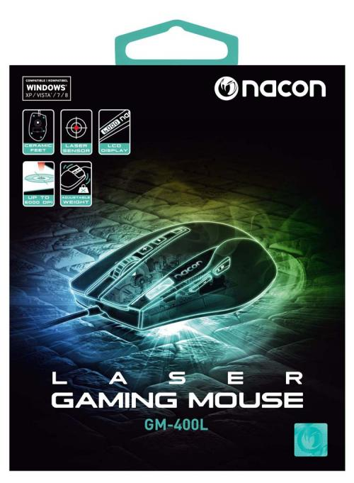 NACON OPTICAL GAMING MOUSE GM-400 - 6000 DPI