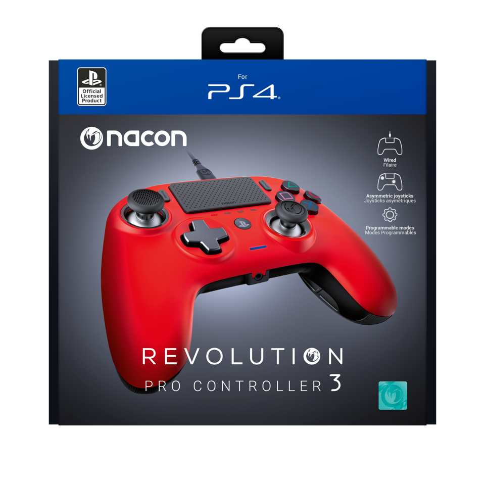 NACON REVOLUTION PRO 3 OFFICIAL CONTROLLER PS4 - RED_1