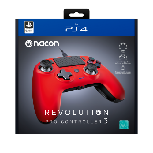 NACON REVOLUTION PRO 3 OFFICIAL CONTROLLER PS4 - RED