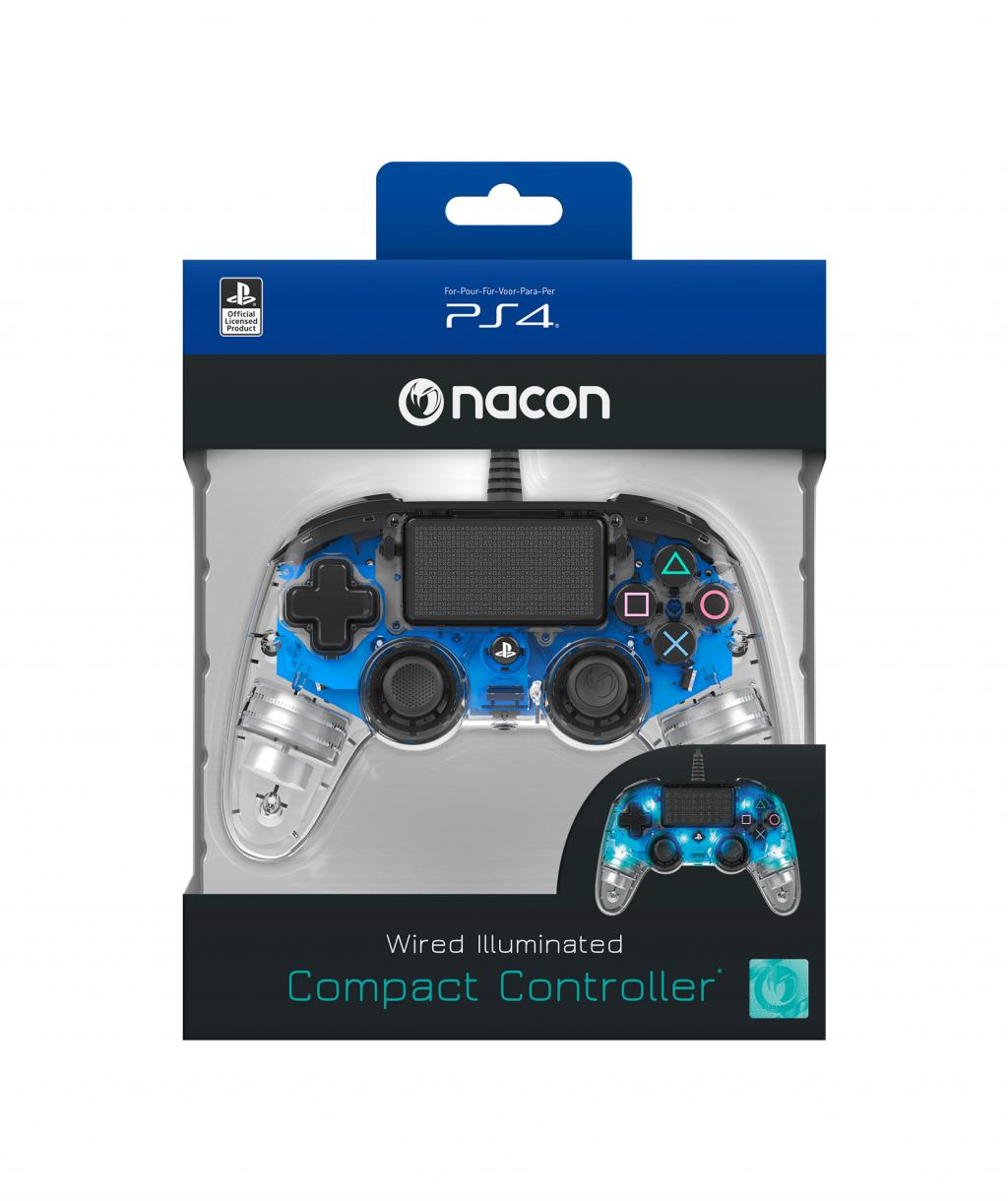 NACON WIRED OFFICIAL CONTROLLER CLEAR BLUE PS4_1