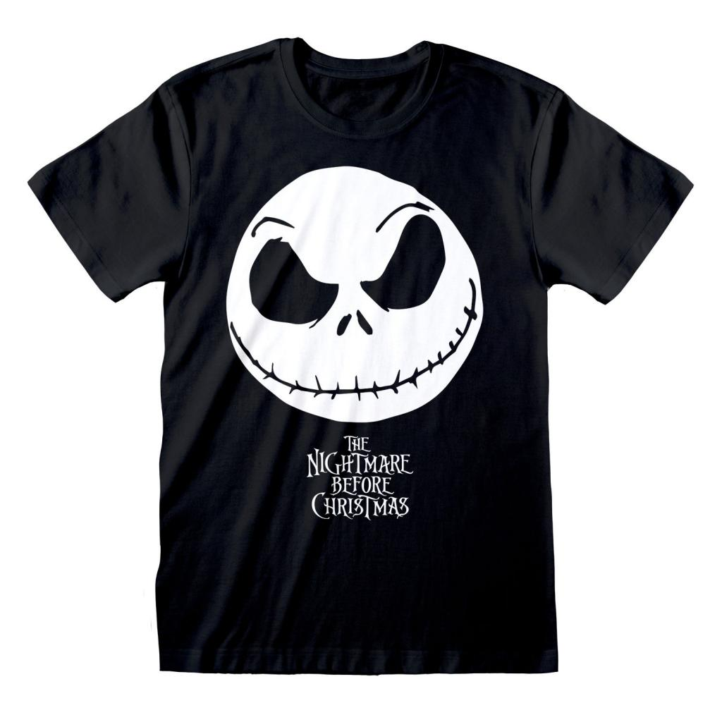 NIGHTMARE BEFORE CHRISTMAS - T-Shirt - Jack Face & Logo (S)
