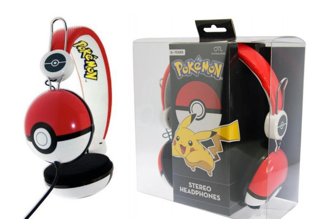 NINTENDO - Casque Audio OTL Junior 85db - Pokeball