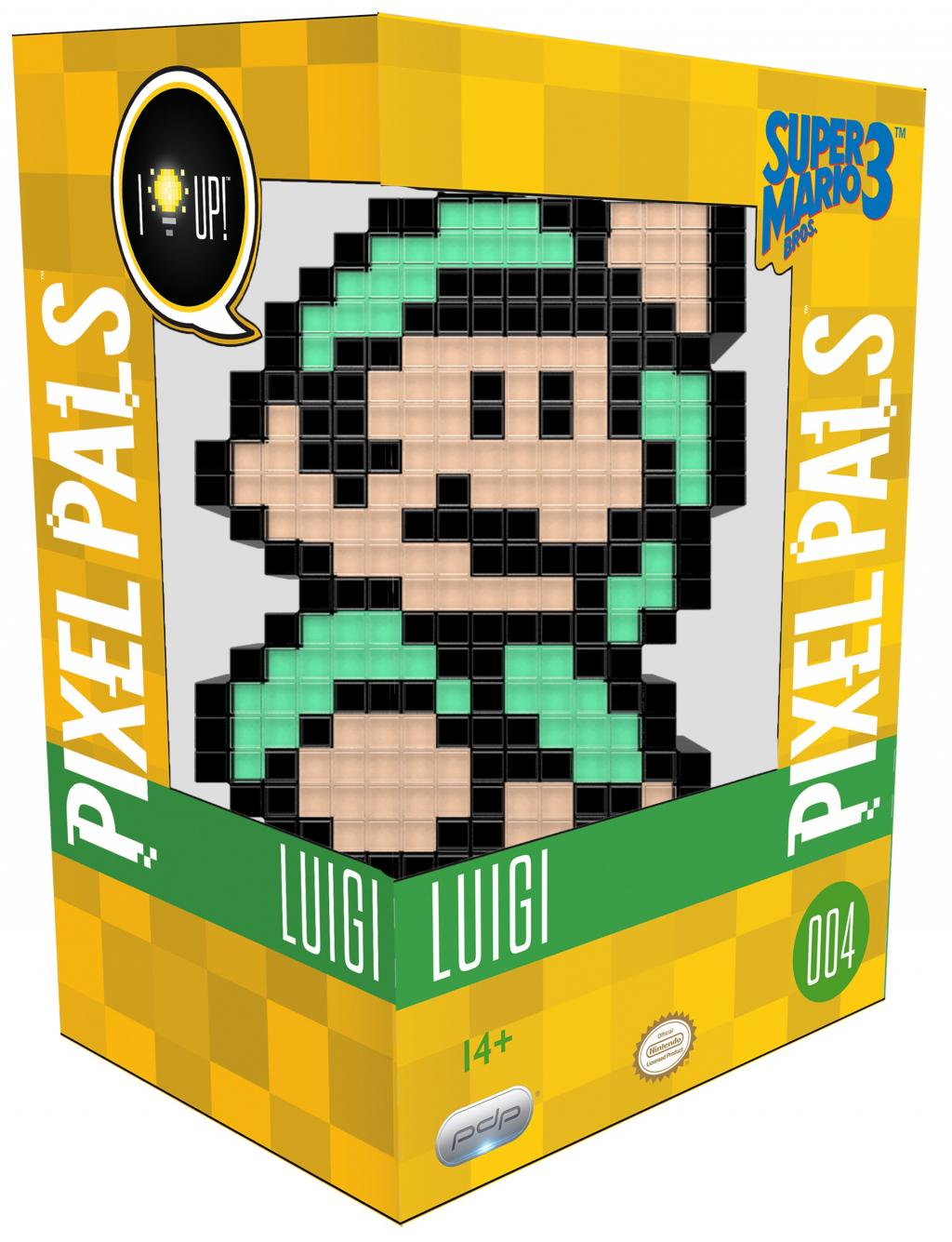 PIXEL PALS Light Up Collectible Figures - Nintendo - Luigi