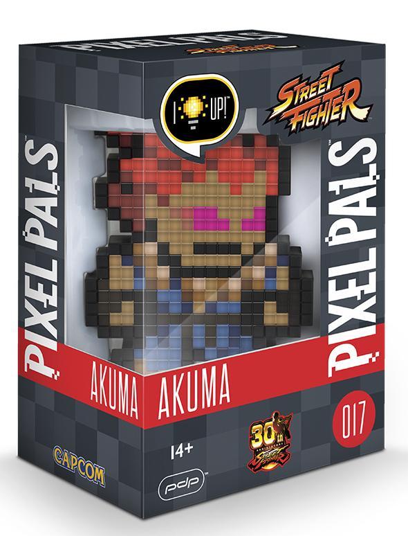 PIXEL PALS Light Up Collectible Figures - Street Fighter - Akuma