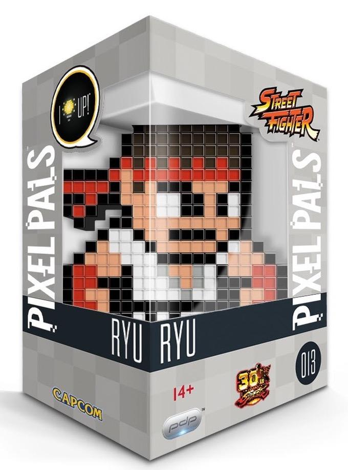 PIXEL PALS Light Up Collectible Figures - Street Fighter - Ryu