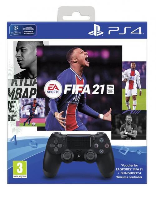 Control Pad Wireless DUALSHOCK 4 Officiel + FIFA 21 (CIB)