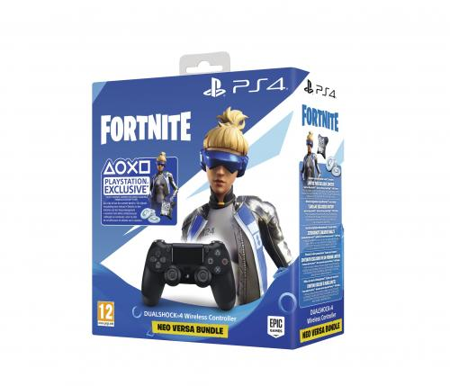 Control Pad Wireless DUALSHOCK 4 Officiel (Black) V2 FORTNITE - PS4