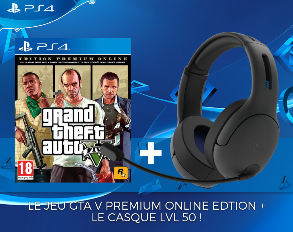 Official Playstation Wireless Headset LVL50 PS4 + GTA PREMIUM_1