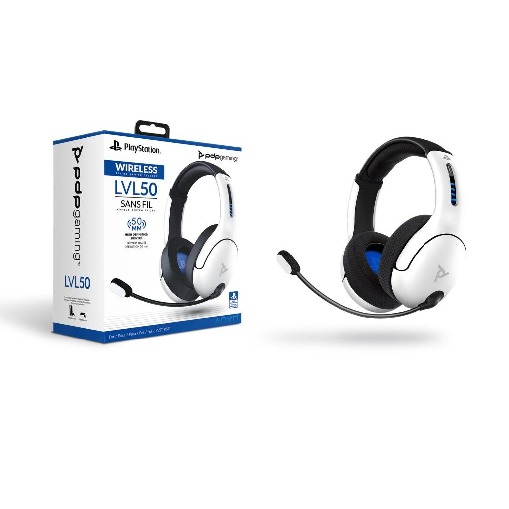 Official Playstation Wireless Headset LVL50 PS4 / PS5 White_1