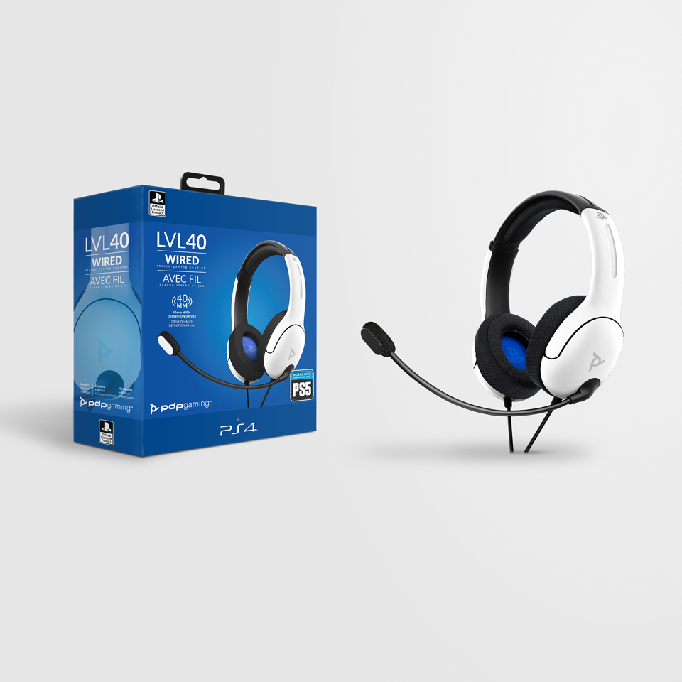 Official Playstation Wired Headset LVL40 PS4 / PS5 White_1