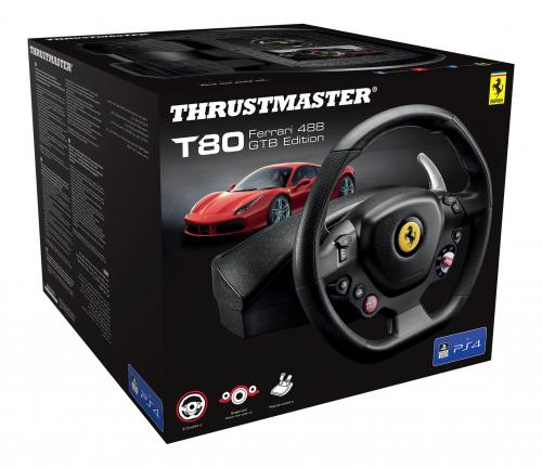 T80 Racing Wheel Ferrari 488 GTB PS4/PS3 (Thrustmaster)