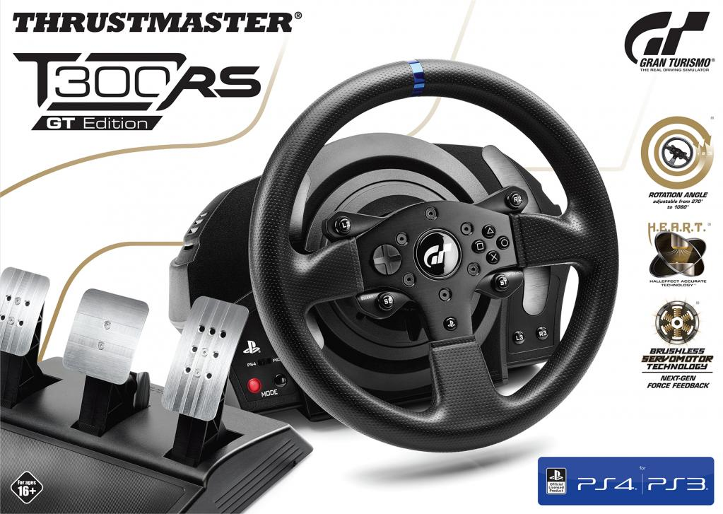 T300 RS  GT Racing Wheel Official Sony PS4/PS3/PC (Thrustmaster)_1