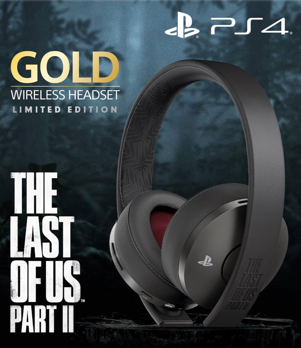 THE LAST OF US PART II GOLD WIRELESS HEADSET-LIMITED EDITION