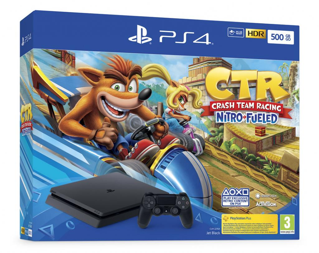 Console PS4 SLIM - 500 GB Bundle Crash Team Racing